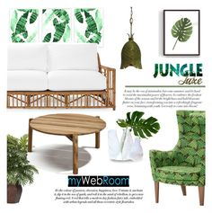 """""""Jungle Luxe"""" by mada-malureanu ❤ liked on Polyvore featuring interior, interiors, interior design, Zuhause, home decor, interior decorating, Varaluz, Serena & Lily, Nearly Natural und homedesign"""