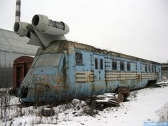 Abandoned and rusty Soviet Jet Train