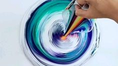 Abstract Painting Techniques, Flow Painting, Canvas Painting Tutorials, Abstract Canvas Art, Diy Canvas Art, Diy Painting, Acrylic Pouring Art, Acrylic Art, Drip Art