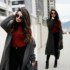 Get this look: http://lb.nu/look/8065048  More looks by Melike Gül: http://lb.nu/melikegul  Items in this look:  Zero Uv Sunglasses, Romwe Cardigan   #casual #minimal #street