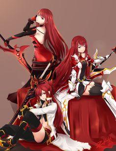 (The Red Knight) ELESIS > Crimson Avenger, Grand Master & Blazing Heart