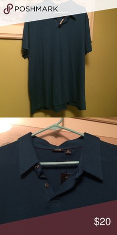 Men's blue Apt. 9 polo, size XL new with tags Men's blue Apt.9 polo, size XL, new with tags Apt. 9 Shirts Polos