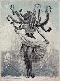 the journal of kraken research Cthulhu, Le Kraken, Octopus Art, Octopus Painting, Octopus Tentacles, Max Ernst, Art Et Illustration, Photography Illustration, Art Design