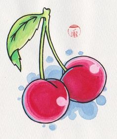 I am a cherry fanatic... Can't wait to get these tattooed on me.