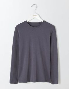Boden Long Sleeve Washed T-shirt London Grey Men You can never have too many good-quality basics - theyre the foundation of every wardrobe. This classic T-shirt has been given a fresh look with a narrow trim on the neckline, so layering with shirts  http://www.MightGet.com/january-2017-13/boden-long-sleeve-washed-t-shirt-london-grey-men.asp