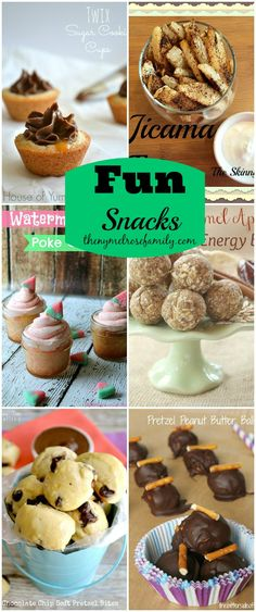 A collection of  6 Fun Snacks perfect for Summer! www.thenymelrosefamily.com #snacks #dessert