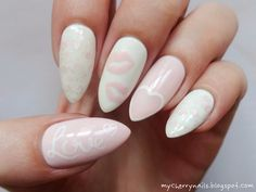 Cherry nails - zdobienie paznokci naturalnych: Valentine's Day Nails
