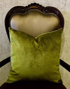 Olive Green Velvet Curtains Luxury Handmade Designer Drape