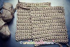 rettangoli laterali per borsa in fettuccia all'uncinetto Straw Bag, Crochet Hats, Monogram, Michael Kors, Pattern, Bags, Accessories, Crochet Purses, Purses