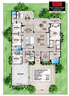 South Florida Designs Contemporary 1 Floor 4 Bedroom Home Design-South Florida Design