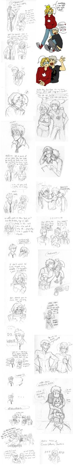 PruCan?? YUP by Dakt37.deviantart.com on @deviantART- the 5th comic on the right made me die when i saw what canadas bear said.