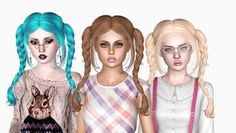 Newsea's Ulala hair retextured by Sjoko - Free Sims 3 Hairstyles Downloads Sjoko Sims Custom Content Caboodle - Best Sims3 Updates and Finds