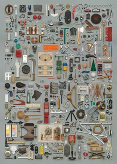 "Things Organized Neatly - ""No Name Design"" (objects collected by Franco Clivia) at Werkraum Bregenzerwald"