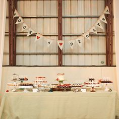 Brides.com: . The southern-themed dinner menu included ribs, pulled pork, cornbread, stewed tomatoes, baked beans, and collard greens. For dessert, guests helped themselves to a spread that included cake pops, mini cupcakes, and doughnuts.