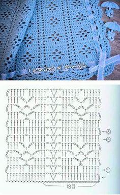 45 Ideas For Crochet Patrones Ganchillo - Diy Crafts - DIY & Crafts Hexagon Crochet Pattern, Crochet Bedspread Pattern, Crochet Diagram, Crochet Stitches Patterns, Crochet Motif, Crochet Designs, Knitting Patterns, Knitting Terms, Filet Crochet Charts
