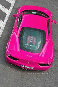 Hot pink Ferrari