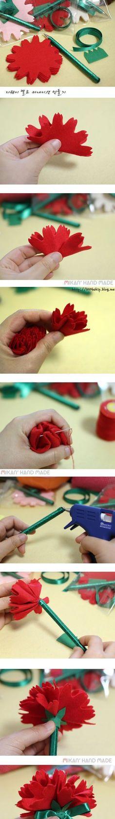 DIY Modular Carnation Flower