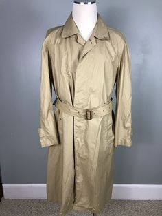 Men's BURBERRY'S OF LONDON Classic VINTAGE Trench Coat Light Weight #BurberryLondon #Trench