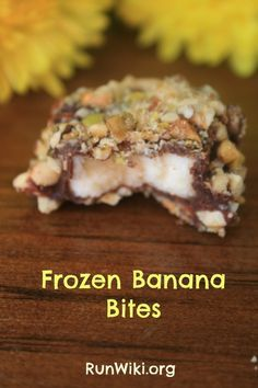 These frozen banana bites are the perfect healthy snack or dessert under 100 calories and so easy to make