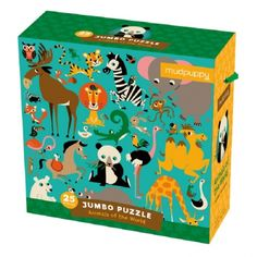 Have a wild time playing this Animals of the World Jumbo Puzzle. Giraffe, Elephant, Floor Puzzle, Animal Puzzle, Baby Games, Disney Christmas, Baby Play, Animals Of The World, Puzzle Pieces