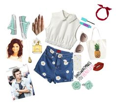 """""""Summer doll"""" by vintagegabbi on Polyvore featuring yunotme, BP., Converse, Catherine Zoraida, Kate Spade, LC Lauren Conrad, Lime Crime, Marc Jacobs and Gucci"""