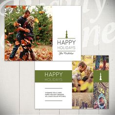 Christmas Card Template: Woodsy Holiday C by LaurieCosgroveDesign