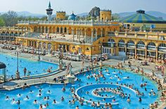 szechenyi baths - don't mind if I take a dip in every thermal bath in budapest