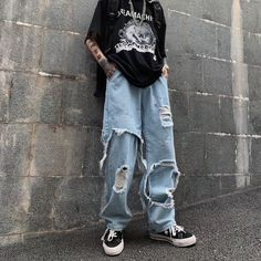 Indie Outfits, Edgy Outfits, Retro Outfits, Cute Casual Outfits, Cute Grunge Outfits, Tomboy Fashion, Fashion Pants, Streetwear Fashion, Fashion Outfits