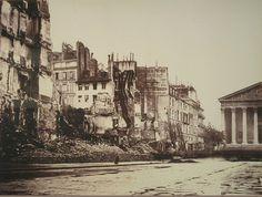 La rue Royale après les combats et les incendies de la Commune, en mai 1871 (photo anonyme)  (Paris 8ème)