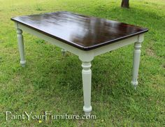 Refinishing A Dining Room Table With Paint and Wood Stain :: Hometalk