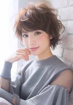 Wispy Stacked Layers - 30 Beautiful and Classy Graduated Bob Haircuts - The Trending Hairstyle Asian Short Hair, Medium Short Hair, Short Hair With Layers, Short Curly Hair, Short Hair Cuts, Curly Hair Styles, Trending Hairstyles, Short Bob Hairstyles, Cool Hairstyles