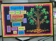 Art ,Craft ideas and bulletin boards for elementary schools: PTM bulletin board