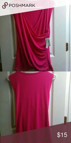 Pink stretchy Blouse by Grace Cute pink blouse made by Grace. 95% polyester 5% spandex. Tops Blouses