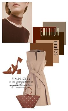 """""""simplicity edition"""" by vinograd24 ❤ liked on Polyvore featuring Paule Ka, WALL, Franco Colli, The Row and mules"""