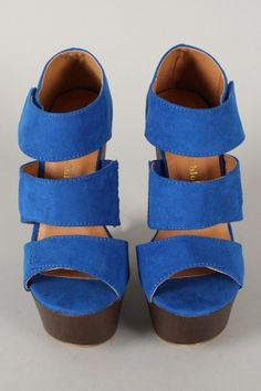 Selma-1 Strappy Velcro Open Toe Platform Wedge $39.50