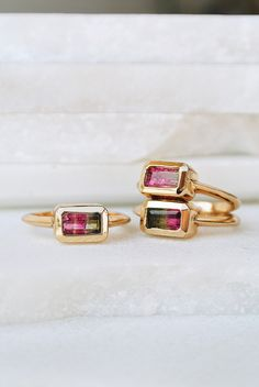 TOURMALINE RING | GOLD – Lili Claspe Jewelry - Don't be tricked when buying fine jewelry! Follow the vital rules at http://jewelrytipsnow.com/a-simple-guide-to-purchasing-fine-jewelry/