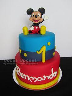 Doces Opções: O Mickey no 1º aniversário do Bernardo