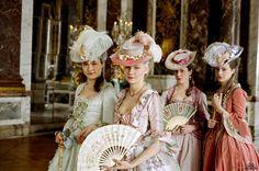 From Sofia Coppola's film Marie Antoinette. Costume design by Milena Canonero. Exquisite.