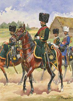 Chasseur à Cheval Garde Impériale, by Lucien Rousselot.