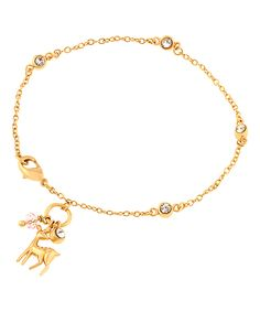 Look at this Gold Deer Bracelet on #zulily today!