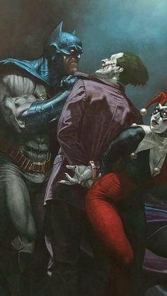Drawing Dc Comics Batman The Joker Harley Quinn Heros Comics, Dc Comics Art, Batman Poster, Batman Artwork, Marvel Vs, Batgirl, Catwoman, Nightwing, Riccardo Federici