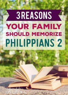 3 Reasons Your Family Should Memorize Philippians 2