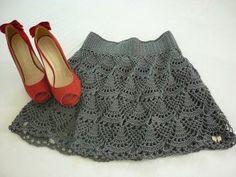 Fabulous Crochet a Little Black Crochet Dress Ideas. Fabulously Georgeous Crochet a Little Black Crochet Dress Ideas. Crochet Skirt Pattern, Crochet Skirts, Crochet Stitches Patterns, Crochet Designs, Crochet Clothes, Beau Crochet, Knit Crochet, Crochet Gratis, Black Crochet Dress