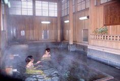 """""""Oyu"""" Public Bath. NozawaOnsen Village is known for hot springs and has 14 public baths."""