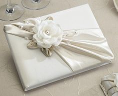 Taupe Rose Wedding Guest Book
