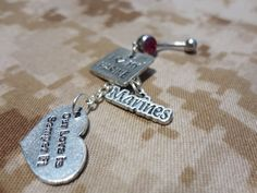 I love my marine belly button ring by CBbitsnpieces on Etsy
