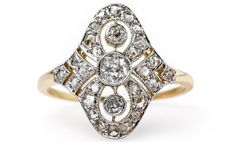 Hansberry is a unique and special Edwardian era platinum-topped yellow gold navette style ring centering three vertically set Old Mine Cut diamonds. Vintage Engagement Rings, Vintage Rings, Diamond Engagement Rings, Antique Rings For Sale, 3 Stone Diamond Ring, Russian Fashion, Russian Style, Gold Platinum, Black Ribbon