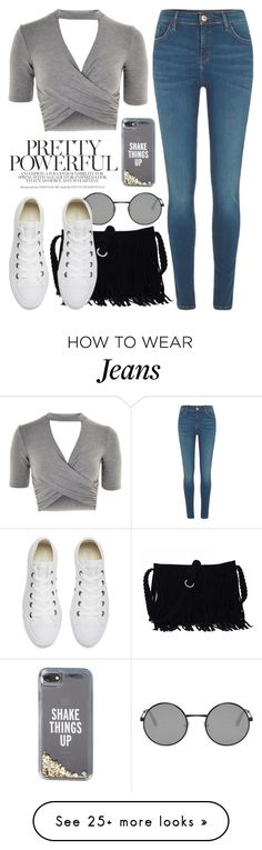 """Apr 14th (tfp) 3410"" by boxthoughts on Polyvore featuring River Island, Topshop, Yves Saint Laurent, Converse, Kate Spade and tfp"