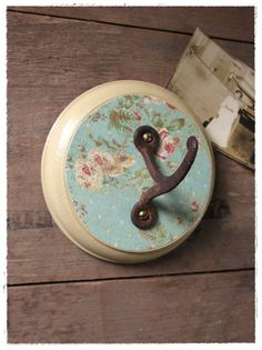 pretty hook, made from upcycled vintage materials. by bee vintage redux.