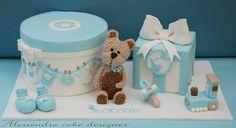Teddy Bear and Toys Baby Themed Cake for a Boy